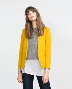Image 2 of BLAZER WITH ZIPS from Zara