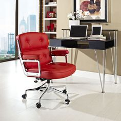 Modway Remix Office Chair in Red