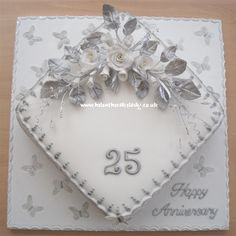 Silver wedding anniversary cake 25th by Helen The Cake Lady, via Flickr