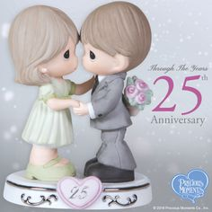 Shop for anniversary gifts, couples gifts, and many other figurines, sculptures and ornaments at Precious Moments. 25th Wedding Anniversary Wishes, Anniversary Congratulations, 25 Year Anniversary, Silver Anniversary, Wedding Wishes, Precious Moments Wedding, Precious Moments Quotes, Precious Moments Figurines, Happy Moments