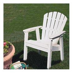 SEAX21 Adirondack Shell Back Deck Chair - EnviroWood Finish: Grey SC1026_1309425