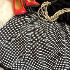 Host Pick Max Edition POLKA DOT circle skirt Check my shares - I LOVE polka dots! So girly but absolutely CLASSIC and versatile. Wear this with a slouchy Tee and Stan Smiths or another Posher's Ann Taylor crew neck sweater, blouse or Sky high Louboutins. The brighter the better! It's color and shape make it perfect for Spring, Summer AND Fall! (Think tights and boots.) Red lipstick is a must. Max Edition  Skirts Circle & Skater