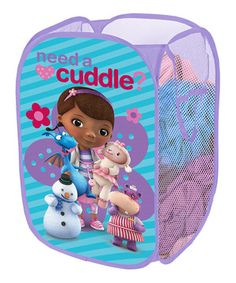 This Doc McStuffins 'Need a Cuddle?' Pop-Up Hamper by Doc McStuffins is super cute! #zulilyfinds