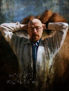 Talented Australian artist Isabella Morawetz created these awesome digital illustrations inspired by the cult TV show Breaking Bad. More Breaking Bad art via Ian Brooks Walter White, Bad Painting, Bad Fan Art, Breaking Bad Series, Inspiration Artistique, Street Art, Fanart, Heisenberg, Portraits