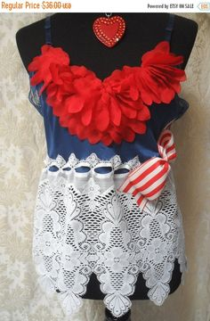 25% OFF  Spring Cleaning TUNIC Top Tank 4th of July by pinkpurse