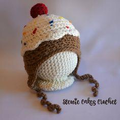 Ice Cream Hat Newborn Ice Cream Photo Prop Ice by stewiecakes