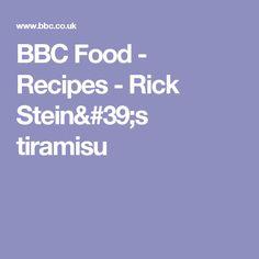BBC Food - Recipes - Rick Stein's tiramisu