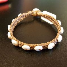 Puka Shell Bracelet, by Ocean Tuff Jewelry
