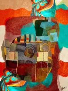 abstract mixed media art by Gina Startup
