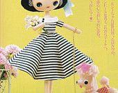 Retro Kawaii Style Felt Rag Pose Doll with 4 Dress by DollyAndPaws