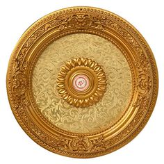 Round Ceiling Medallion 59 dia New Filigree Scroll Ornate Gold Cream Ships free Ceiling Decor, Ceiling Lights, Ceiling Fans, Hollow Wall Anchors, Open Ceiling, Gold Ceiling, Ceiling Rose, Frames Direct, Round Chandelier