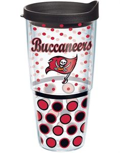 NFL® | Tampa Bay Buccaneers | Polka Dot Wrap with Lid | Tumblers, Mugs, Cups | Tervis