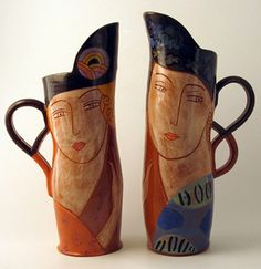 Ceramics by Michael Kay at Studiopottery.co.uk - Two large jugs, 2014