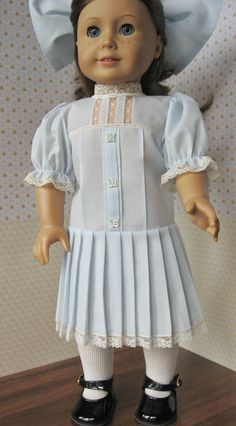 Heirloom Summer Dress for American Girl Doll by MyAuntGinny, $70.00