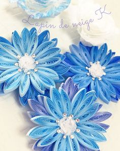 Quilling Flower Designs, Paper Quilling Flowers, Quilling Paper Craft, Quilling 3d, Quilling Patterns, Paper Crafts, Quilling Ideas, Ribbon Braids, Quilling Techniques