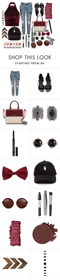 """""""Untitled #269"""" by stephaniereed ❤ liked on Polyvore featuring Topshop, River Island, Kate Spade, New Look, Christian Dior, Irene Neuwirth, 3.1 Phillip Lim, Sephora Collection, Surratt and Anastasia Beverly Hills"""