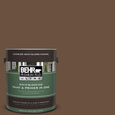 BEHR Premium Plus Ultra 1-gal. #S-H-700 Burley Wood Semi-Gloss Enamel Exterior Paint