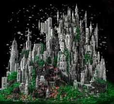 5-Feet High City Made of 200,000 Lego Bricks by Mike Doyle.