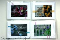 Set of 4 Blank Inspirational Scripture Saver by SeasonswithSoul, $16.00