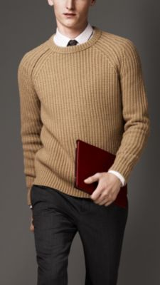 Ribbed Wool Cashmere Sweater