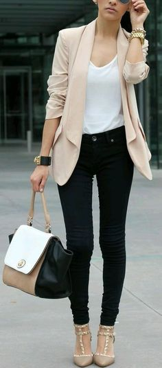 blush peach blazer