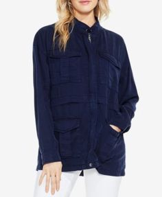 Two By Vince Camuto Cargo Jacket - Blue M