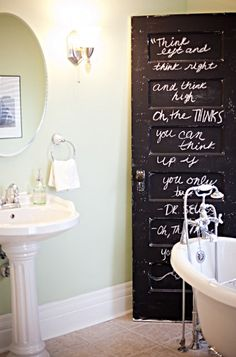 chalkboard painted door *love*
