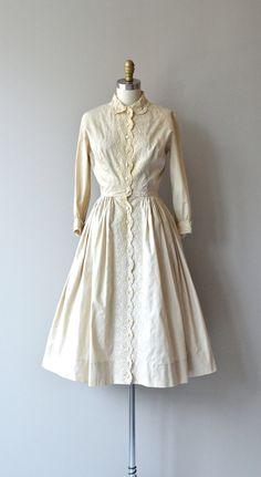 Milk and Honey button-up dress (1950s) | DearGolden
