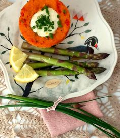 Tomato Polenta Cups and Just Picked Asparagus. Green With Renvy: Meatless Monday