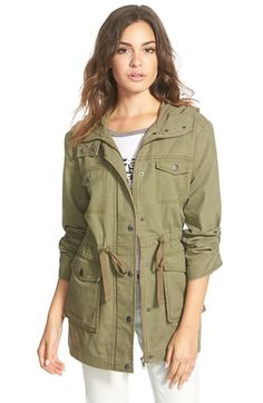 Free shipping and returns on BP. Hooded Field Jacket at Nordstrom.com. Cargo pockets and an olive-green hue play up the utilitarian vibe of this hooded cotton-twillfield jacket shaped bya figure-definingdrawstring waist.
