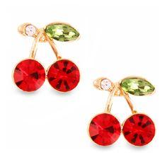 PARA V 1.96 - par GRATIS . envio  2014 New Fashion Korean Hot Sell Ruby Deicate Leaves Earrings As A Gift For Women E1271