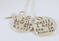 Memorial Remembrance Necklace Bereavement Sympathy by Studio463, $74.00