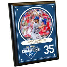 "Steiner Sports Memorabilia Steiner Sports Kansas City Royals 2015 American League Champions Eric Hosmer Plaque - 8"" x 10"""
