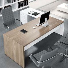 Price x Desk and return with 3 drawer pedestal + vat Office Cabin Design, Home Office Furniture Design, Small Office Design, Office Interior Design, Office Interiors, Office Table And Chairs, Modern Office Table, Autocad, Executive Office Desk