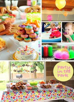 cheap and colorful birthday party