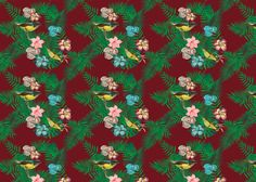 Birds of paradise, pattern. itrynottothink.com