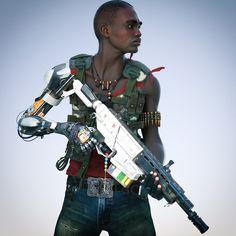 — Heavily armed Cyborg Guerilla