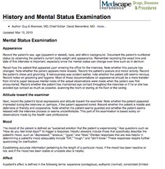 full mental status exam - Google Search | Psych Nursing ...
