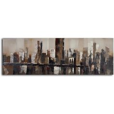 @Overstock.com - 'Chocolate city skyline' Hand Painted Canvas Art - Artist: UnknownTitle: Chocolate city skylineProduct type: Acrylic Painting  http://www.overstock.com/Home-Garden/Chocolate-city-skyline-Hand-Painted-Canvas-Art/8441196/product.html?CID=214117 $110.99