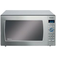 """Panasonic Genius """"Prestige"""" cuft Sensor Microwave with Inverter Technology & Blue Electrostatic Dial, Stainless Steel Countertop Microwave Oven, Stainless Steel, Countertop Microwaves, Cooking Appliances, Specialty Appliances, Kitchen Appliances, Panasonic Microwave, Cubic Foot"""