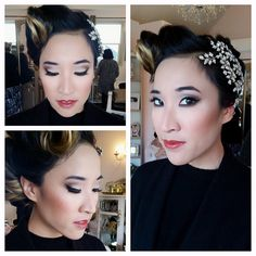 Old Hollywood Bride - #Hair & #Makeup by Dee & Rebecca