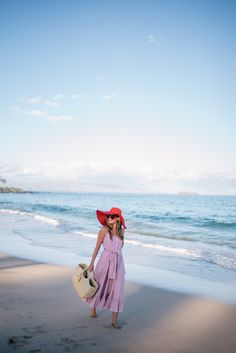 Outfit Details: Elle Sasson Dress (skirt version here), Solid & Striped Swimsuit (one piece version here), Illesteva Sunglasses, Hat Attack Bag,… Vacation Outfits, Mom Outfits, Summer Outfits, Zara Hats, Estilo Glamour, Red Gingham, Gingham Dress, Fancy Gowns, Striped Swimsuit