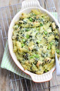 Pasta ovenschotel met spinazie