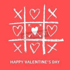 幸せなバレンタインデーのグリーティング カード、xoxo、抱擁とキス