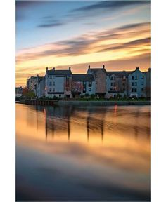 Sunset at The Shore, Leith, Scotland.