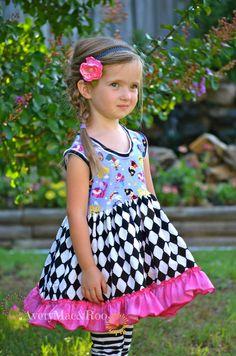 Little Lady's Wondering Alice storybook knit bodice by averymacroo, $50.00