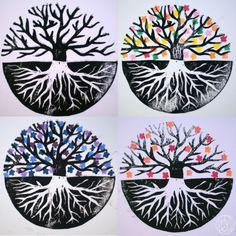 A stamp a week 7/52 - Un arbre de vie gravé - Dans ma petite roulotte