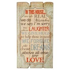 In This House Wall Sign