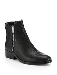 3.1 Phillip Lim Alexa Leather Double-Zip Ankle Boots   Crafted in the smoothest leather, these downtown-ready ankle boots sport silvertone zippers for a hint of sheen.
