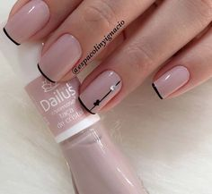 15 Super ideas for gel manicure designs short nails pretty art ideas Elegant Nails, Classy Nails, Simple Nails, Trendy Nails, French Manicure Acrylic Nails, Manicure And Pedicure, Nail Polish, Manicure Ideas, French Manicures